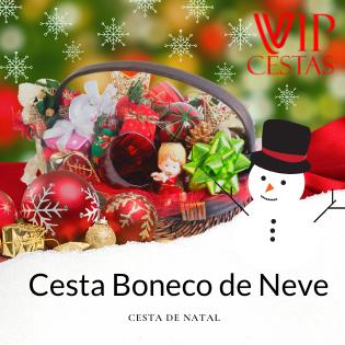 04 – Cesta de Natal bh Boneco de Neve